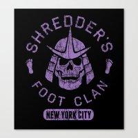 Bad Boy Club: Shredder's Foot Clan Canvas Print