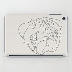 One Line Pug iPad Case