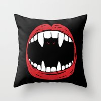 Vampire Bat Throw Pillow