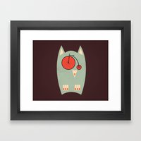 Vintage Bikeowl Framed Art Print