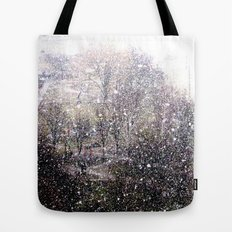 Snow in early fall(1)  Tote Bag