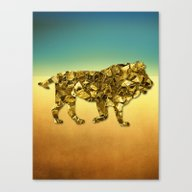 Animal Mosaic - The Lion Canvas Print