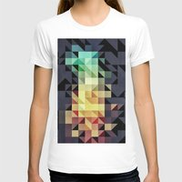 :: geometric maze IV :: Womens Fitted Tee White SMALL