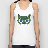 So Many Leaves = 1 Owl (Green) Unisex Tank Top