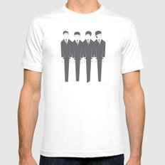 The Fab Four White Mens Fitted Tee SMALL