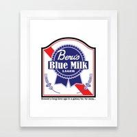 Beru's Blue Milk Lager Framed Art Print