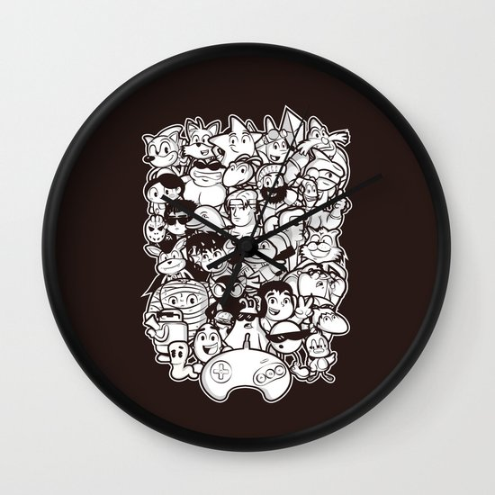 Mega 16 Bit Wall Clock
