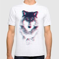 Act Like A Wolf.  Mens Fitted Tee Ash Grey SMALL