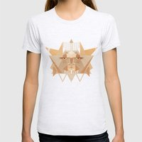 Leothelion Womens Fitted Tee Ash Grey SMALL