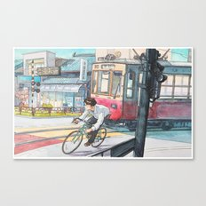 Bicycle Boy 05 Canvas Print