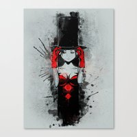 Top Hat Lady Canvas Print