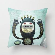 Alien Guard Throw Pillow