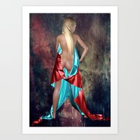 Nude With Drape Back Vie… Art Print
