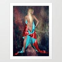 Nude With Drape Back Vie… Art Print