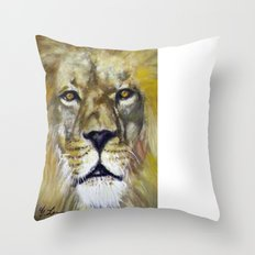 Title: Mesmerizing Lion King Throw Pillow