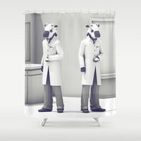 Cow Scientists Shower Curtain