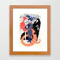 The Knight, Death, & the Devil Framed Art Print