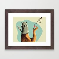Collecting the fruit Framed Art Print