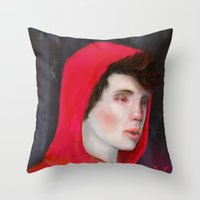 A Red Night Throw Pillow