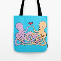 Cephalopod Couple Tote Bag