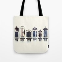 Vintage Amplifier Tubes Tote Bag