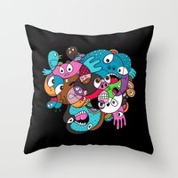 Scribble Stuff Throw Pillow