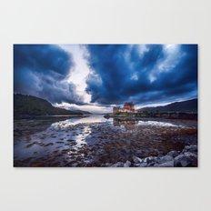 Dark Skies at Eilean Donan Castle Canvas Print
