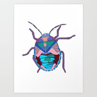 A Beautiful Beetle Art Print