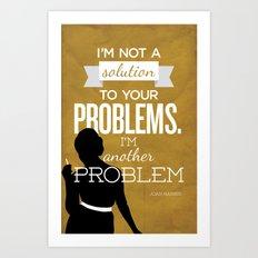 Mad Men Typographic poster - Joan Art Print