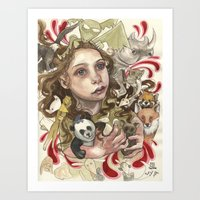 Animal Hugs Art Print