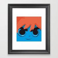 Post it Portrait: Scott Pilgrim Framed Art Print