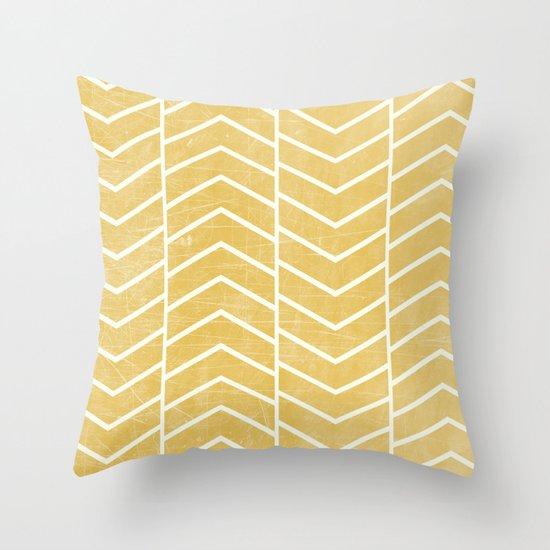 Yellow Chevron Throw Pillow