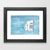 Tsunami House Framed Art Print