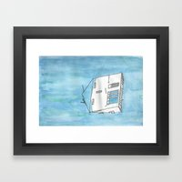 Tsunami House Framed Art Print