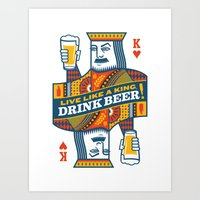 King of Beers Art Print