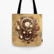 Steampunk Skull Vintage Style Tote Bag