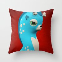 Cool Blue Wippo Throw Pillow