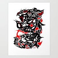 Rampage! Art Print