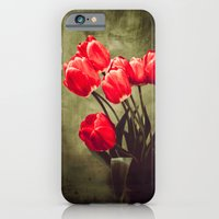 iPhone & iPod Case featuring Red tulips  by Ginta Spate