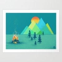 The Bonfire Art Print