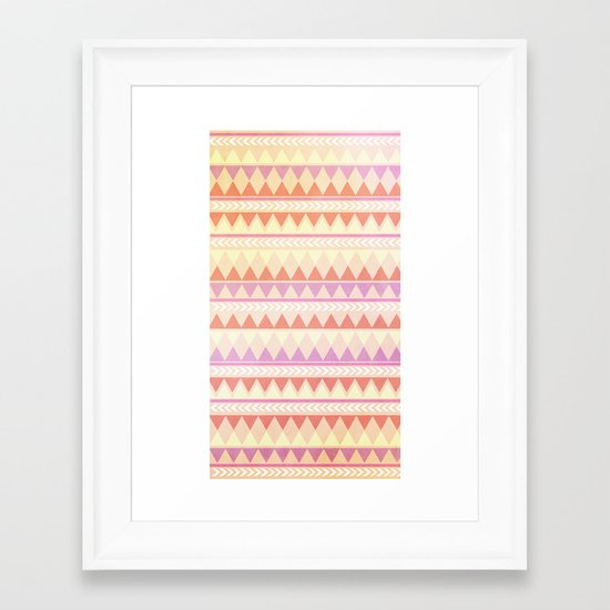 Summer Aztec Pattern Framed Art Print