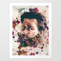 A Beard Of Flowers Art Print