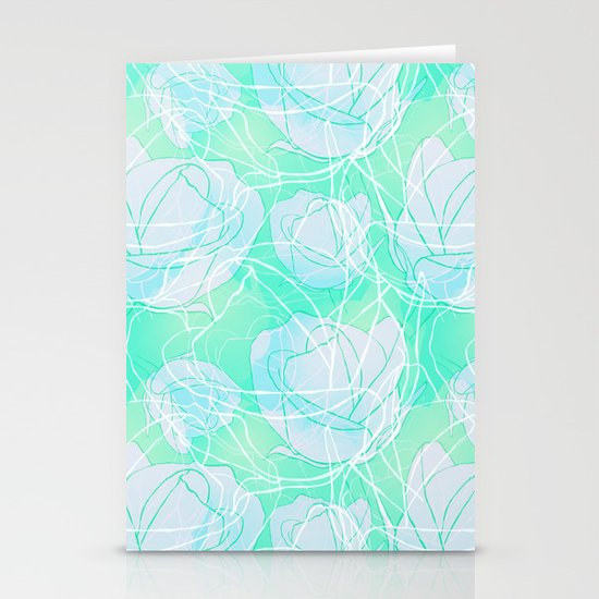 Blue roses Stationery Card