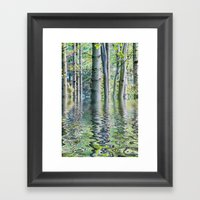 SERENE GREEN SCENE Framed Art Print