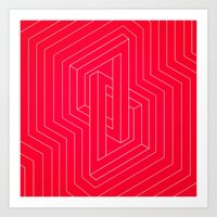Modern Minimal Line Art … Art Print
