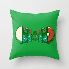 Poketryoshka - Grass Type Throw Pillow
