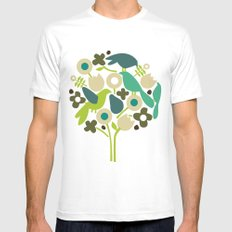 birdy num num Mens Fitted Tee SMALL White