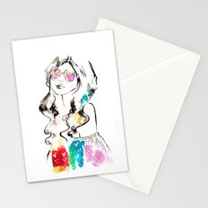 Heart shades and rainbow colors Stationery Cards