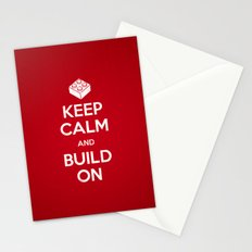 Keep Calm and Build On Stationery Cards