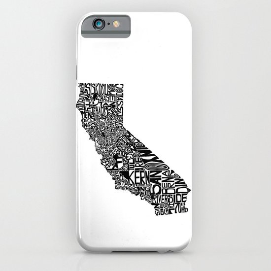 Typographic California iPhone & iPod Case
